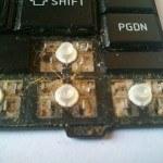 грязные кнопки (почистить)